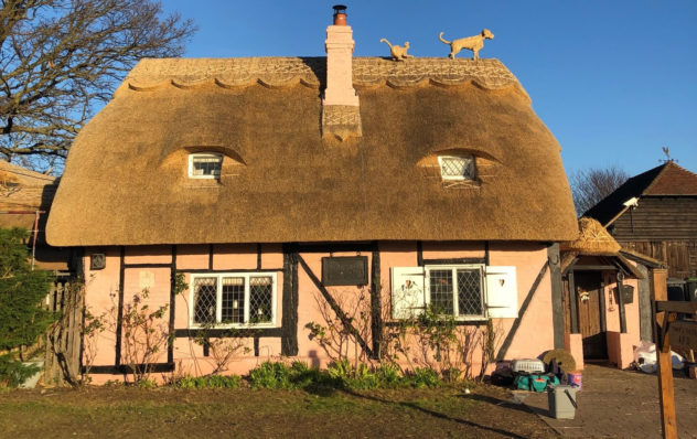 Wheat Reed thatch near Canterbury in Kent