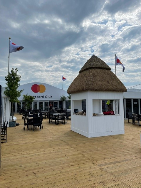 MasterCard thatch at The Open
