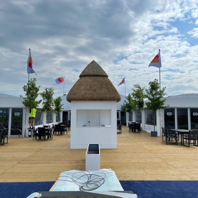 The Open 2021 thatched hut